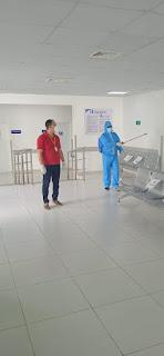 Salud Pública interviene Hospital Padre Fantino, así evitar nuevos contagios.