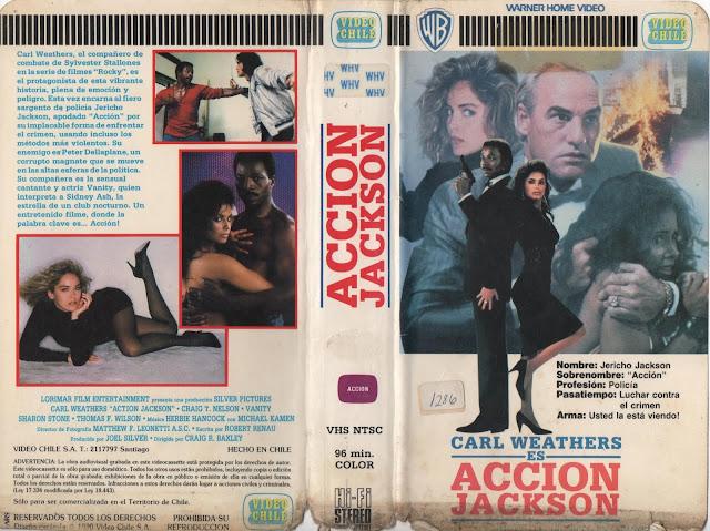"""Pelicula """"Accion Jackson"""" - 1988"""