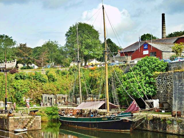 Charlestown, Cornwall - tall sailing ship used in Poldark