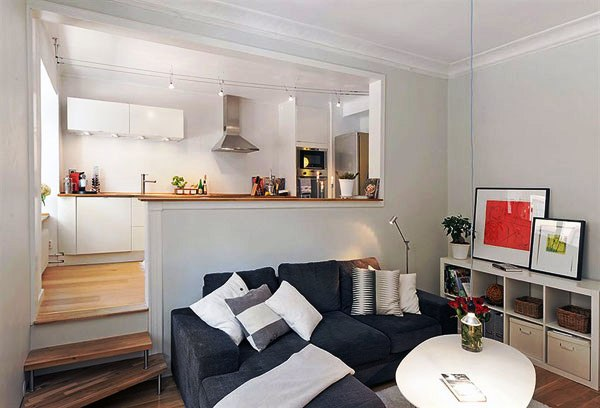 Small studio apartment design layouts create small for Minimalist decor apartment