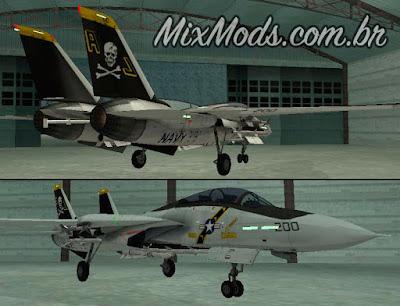 avião f14 multifuncional hd para gta sa