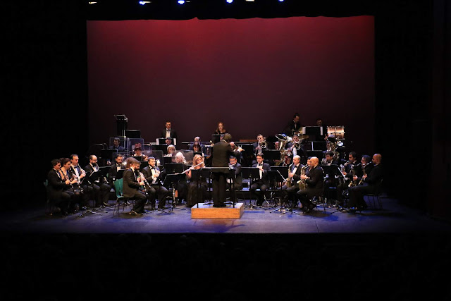 Concierto de la banda en el Teatro Barakaldo