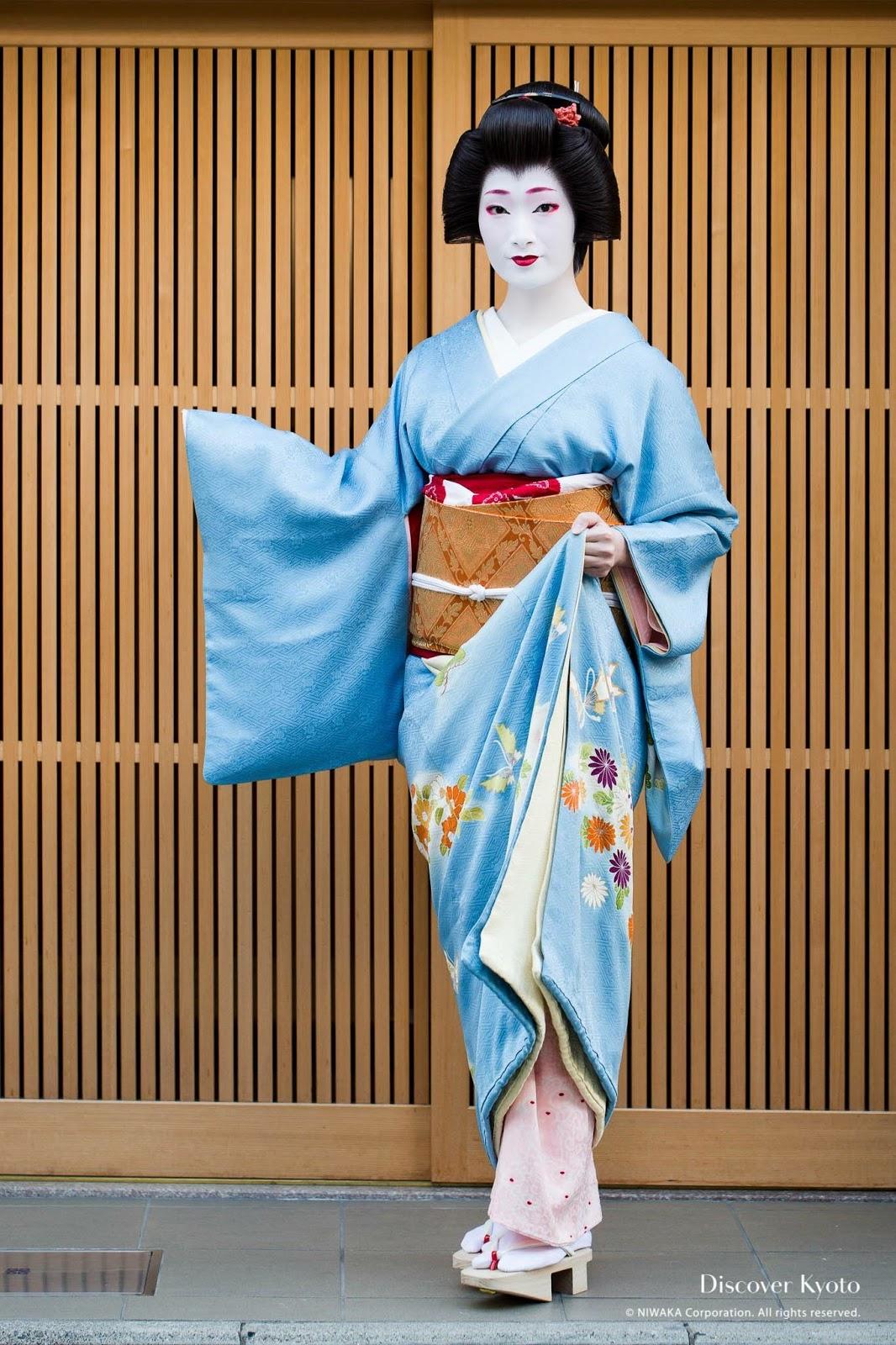 Geiko's kimono have padded hems