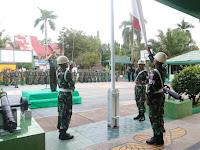 Dandim 1001 Sampaikan Pesan Panglima TNI Sukseskan Pesta Demokrasi