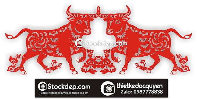 Vector Logo trâu vàng free 2021