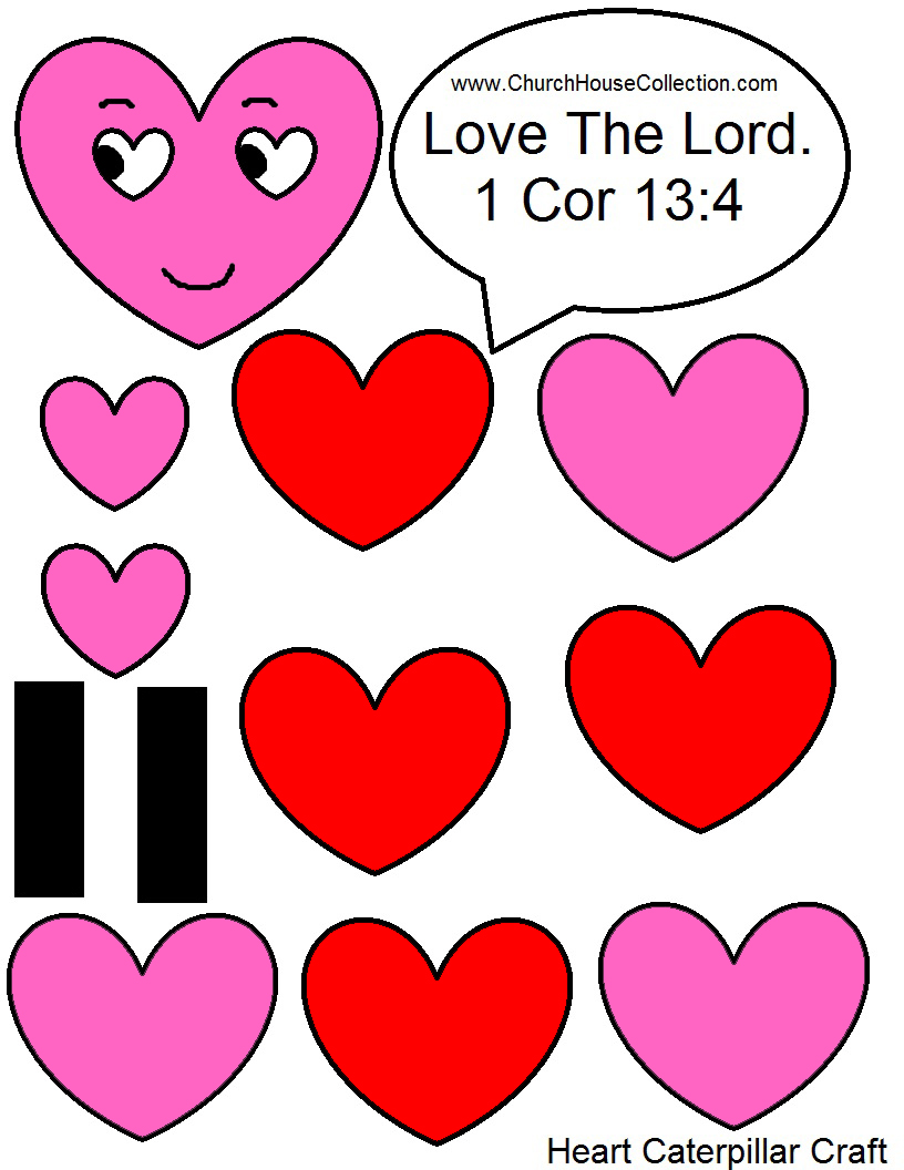Church House Collection Blog Heart Caterpillar Valentine S Day Craft For Sunday School Kids