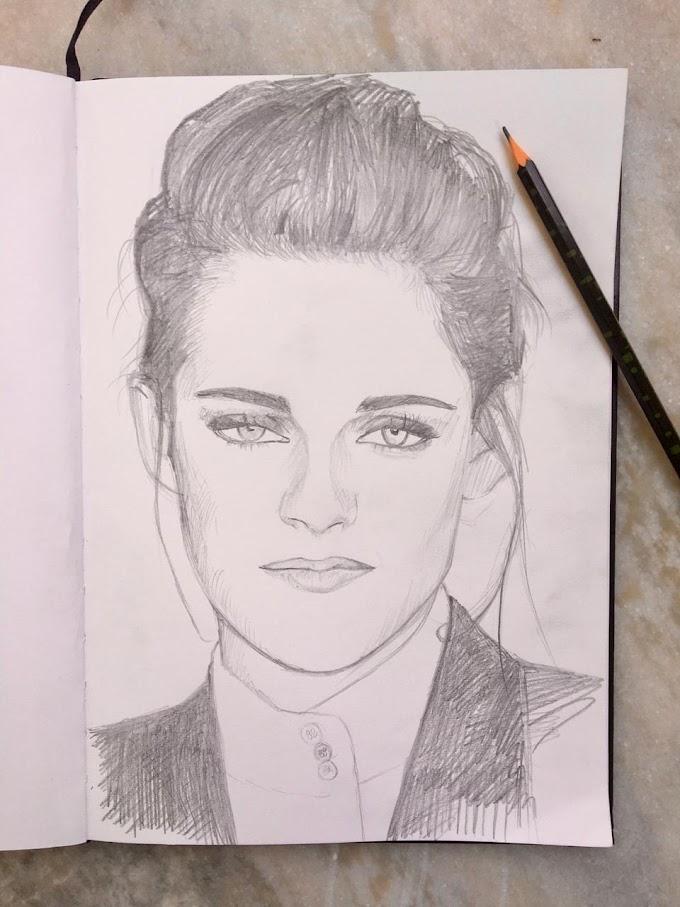 Portrait of Kristen Stewart in 20 minutes