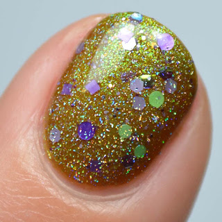 halloween glitter topper nail polish
