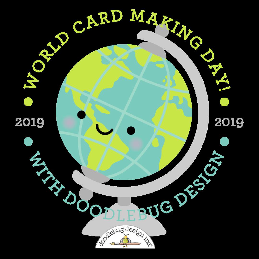 Doodlebug Design Inc Blog World Card Making Day Card 2019 Simple Card Sketch Challenge