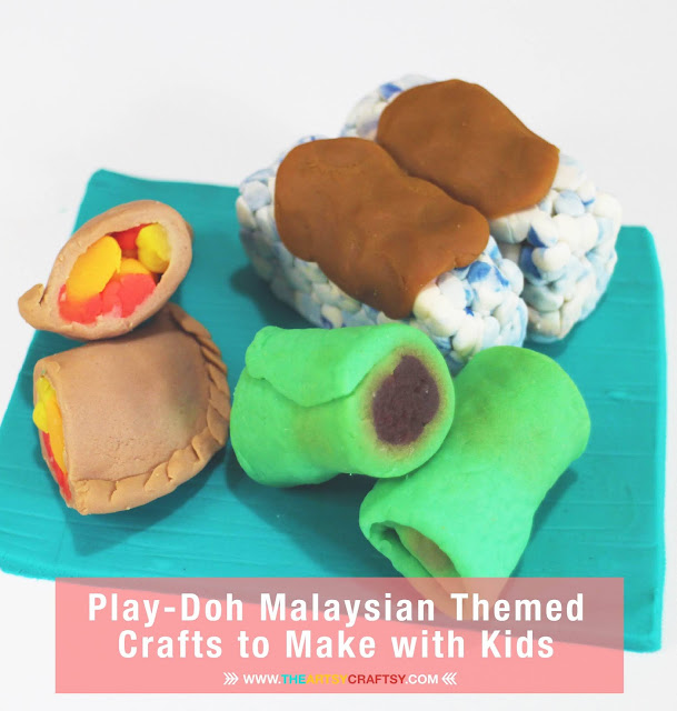 Three Play-Doh Malaysian Themed Crafts to Make with Kids