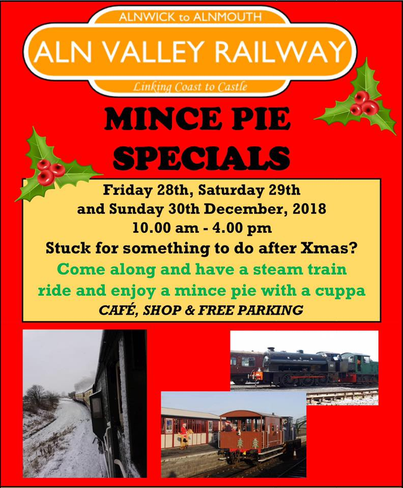 Aln Valley Railway Santa Specials Train Review - mince pie specials
