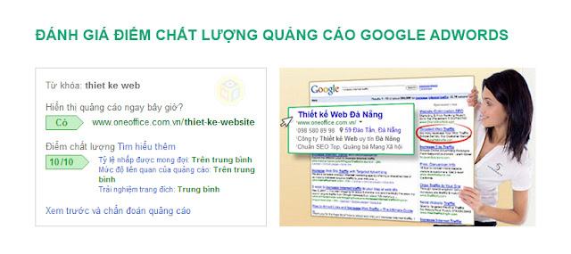 Sự ảnh hưởng của điểm chất lượng thấp trong quảng cáo google Adwords
