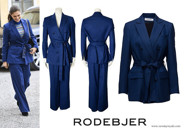 Crown Princess Victoria wore Rodebjer Zoe Blazer and darcel trousers