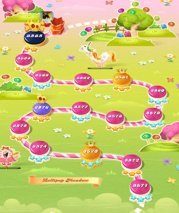 Candy Crush Saga level 8571-8585