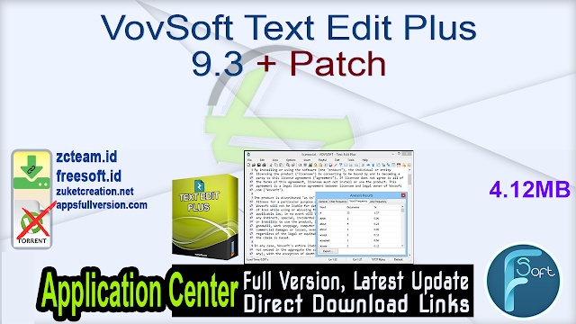 VovSoft Text Edit Plus 9.3 + Patch_ ZcTeam.id