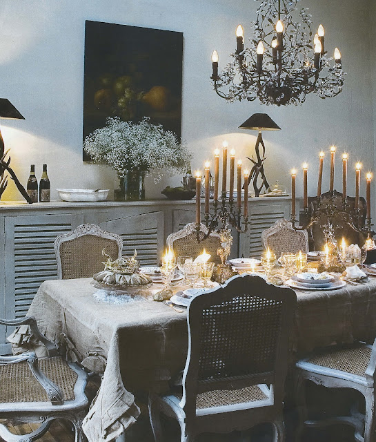 Dining Room, image via Ville.&.Casali as seen on linenandlavender.net - http://www.linenandlavender.net/2013/01/inspiration-file-dining-room.html