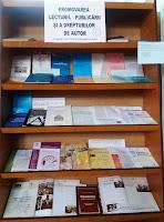 foto expoziţie Promovarea lecturii, publicării şi a drepturilor de autor