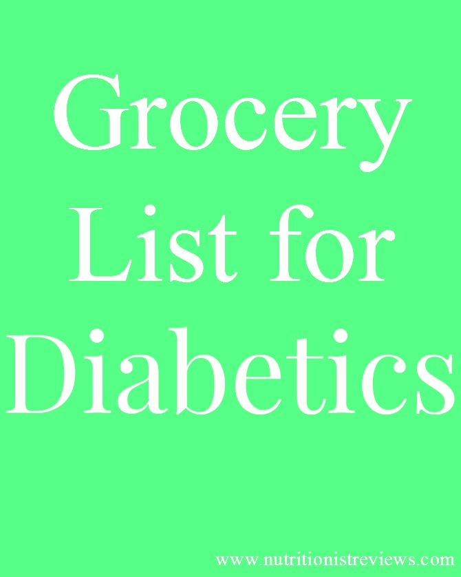 This diabetic friendly grocery list helps make shopping easier for people with diabetes.