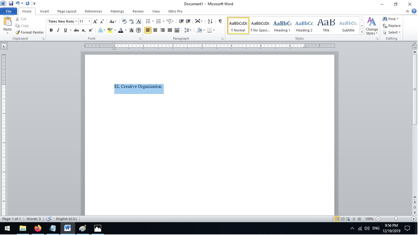 Memasukan dan Formatting Teks Blok kata