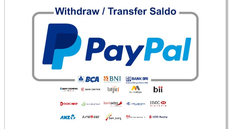 Cara mencarian Uang Paypal Melalui Rekening Bank