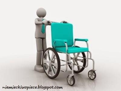 Der Rollstuhl - Urządzenia i przedmioty w pracy opiekunki osób starszych