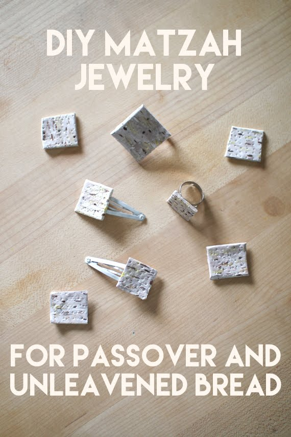 DIY Clay Matzah Jewelry