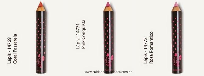 lápis efeito gloss