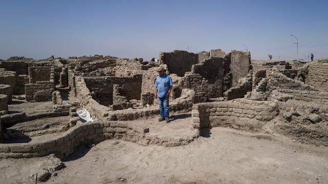 A cidade perdida de ouro do Antigo Egito