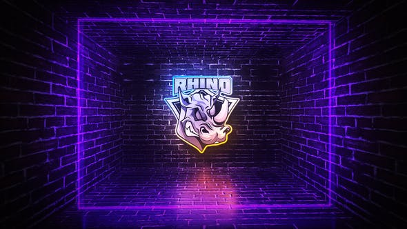 Grunge Neon Logo : After Effects Template