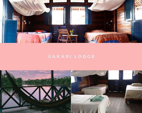 Os quartos da Pousada Uakari Lodge