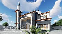 jasa gambar aula asrama masjid