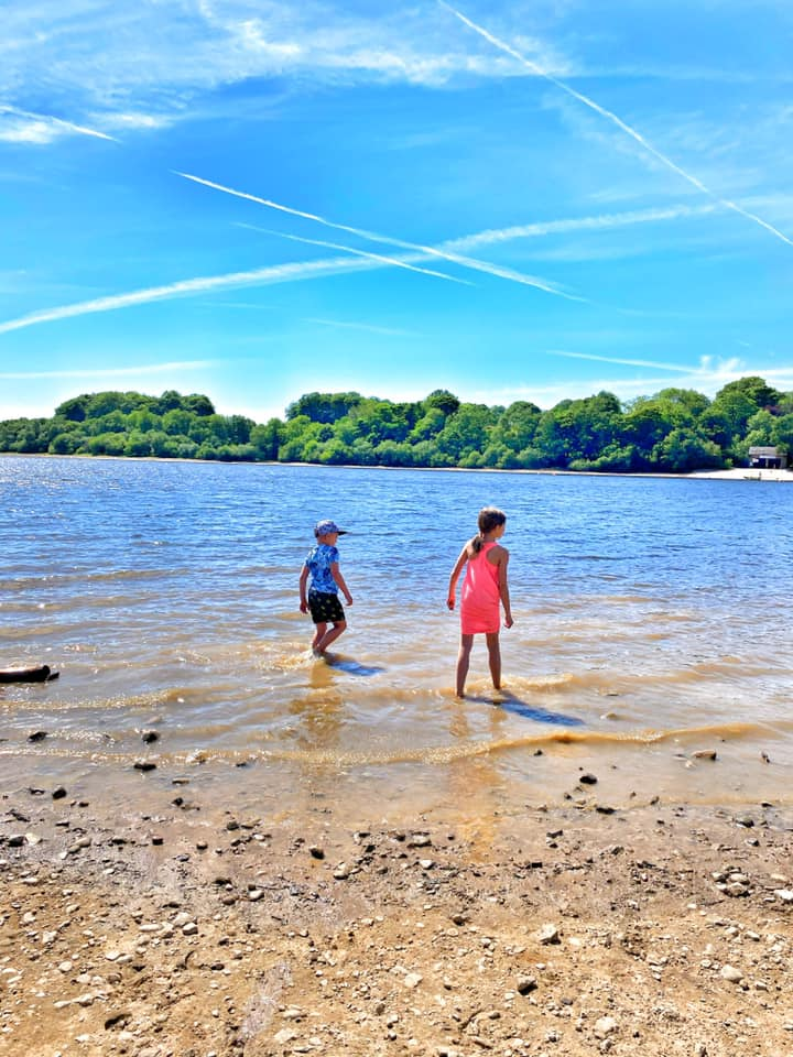 playing in the reservoir at rivington
