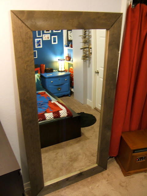 Nine Red: DIY Floor Mirror