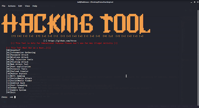 All in One Hacking tool For Hackers (2020)