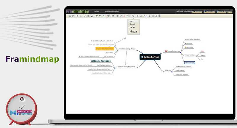 Framindmap para hacer mapas mentales online gratis
