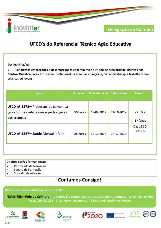 Formação gratuita – Referencial de Técnico(a) de Ação Educativa – Coimbra
