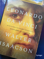 Leonardo da Vinci, by Walter Isaacson, superimposed upon Intermediate Physics for Medicine and Biology.
