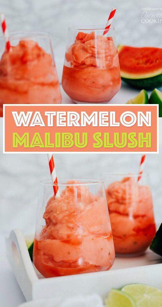 Watermelon Malibu Slush