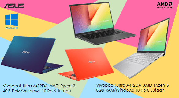 Harga laptop 6 jutaan dan 8 jutaan