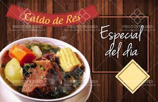 plantilla banner menu comida restaurante sopa de res o hueso de vaca social media