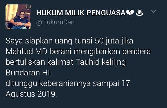 50 Juta Untuk Mahfud MD