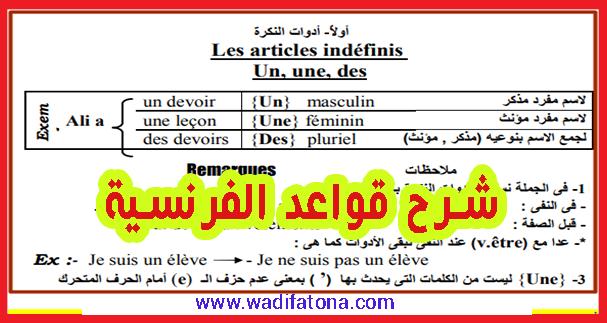 قواعد الفرنسية مشروحة بشكل رائع ومبسط