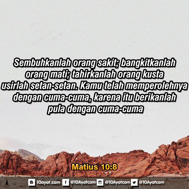 Matius 10:8