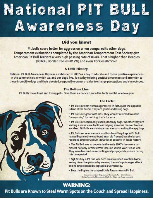 National Pit Bull Awareness Day Wishes for Instagram