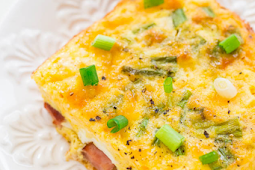 YUMMY!!! BAKED HAM AND CHEESE OMELET #Dinner #Easyrecipe