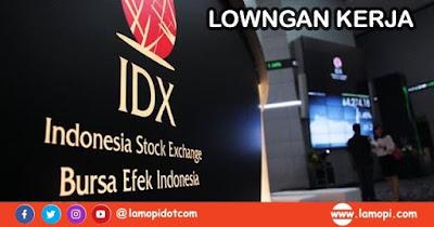 Lowongan kerja PT Bursa Efek Indonesia Bulan Juli 2020