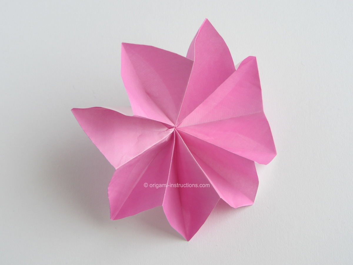 Origami-Instructions.com: Origami 8-Petal Flower - photo#47