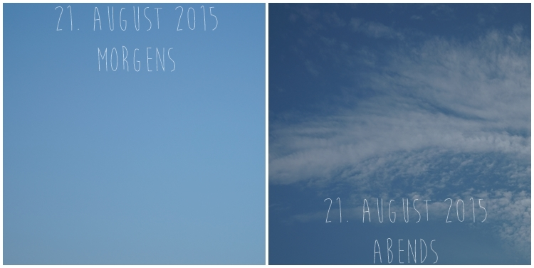 Blog & Fotografie by it's me! - Himmel am 21. August 2015