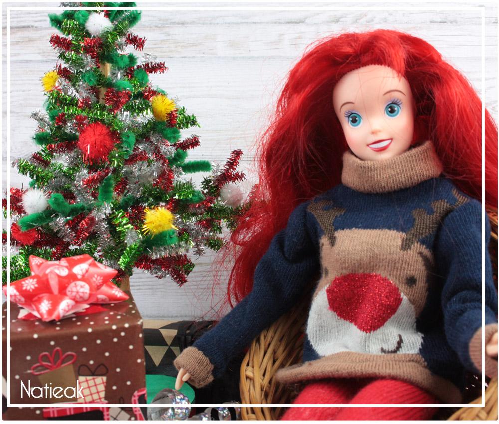 Faire un joli pull de  Noël  pour Barbie
