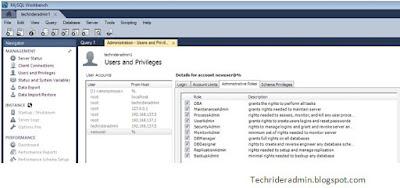 create user in mysql using mysql workbench,Administrative roles